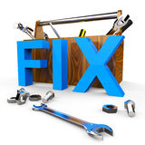 Fix Word Indicates Mend Repairs And Device Royalty Free Stock Photos