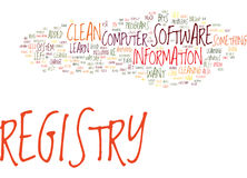 Fix Your Computer How To Clean Registry Word Cloud Concept Stock Photos