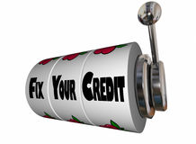 Fix Your Credit Rating Score Slot Machine Stock Images