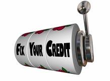 Fix Your Credit Rating Score Slot Machine stock illustration