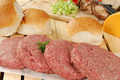 Fixações do Hamburger foto de stock