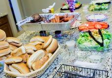 Fixações do Hamburger e do cachorro quente Foto de Stock Royalty Free