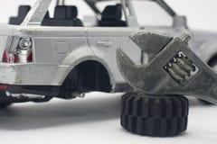 Fixa din bilreparation din bilreparation ditt gummihjul Royaltyfri Fotografi