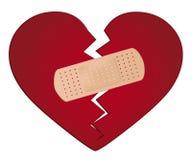 Fixa ett begrepp för bruten hjärta Arkivfoto