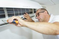 Fixa och underhållande betingande system för luft Royaltyfri Foto