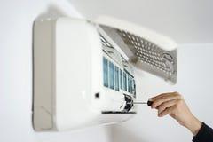 Fixa och underhållande betingande system för luft Arkivfoton