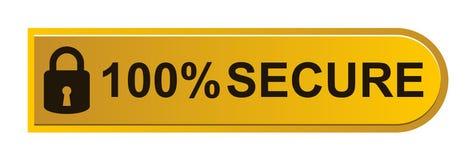 100% fixam o botão ilustração stock
