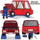 Fixandebil för auto mekaniker Royaltyfria Foton
