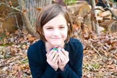 Fixation d'enfant son trésor Photos libres de droits