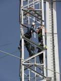 Fixation d'une tour de télécommunication Image libre de droits