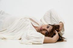 Fixation de femme Photographie stock