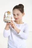 Fixation de petite fille photographie stock