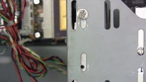 Fixation du disque dur banque de vidéos
