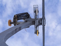 Fixation of a ski lift Stock Image