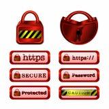 Fixe a coleção do botão da Web Imagens de Stock