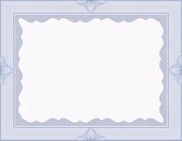 Fixe o certificado em branco do guilloche Imagens de Stock Royalty Free