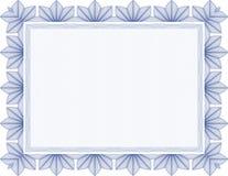 Fixe o certificado em branco do guilloche Foto de Stock Royalty Free