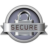 Fixe o emblema para o Web ou imprima-o ilustração stock