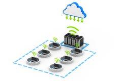 Fixe a rede informática Fotografia de Stock