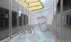 Fixe servidores do banco ilustração stock