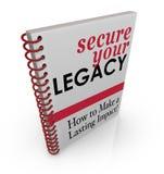 Fixe seu livro do conselho do legado como proteger finanças dos ativos ilustração royalty free