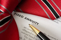 Fixed Annuity royalty free stock photos