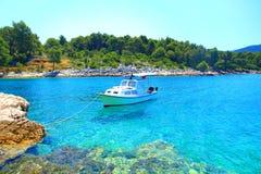 Beautiful blue sea, Island Hvar in Croatia Royalty Free Stock Photos