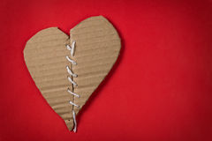 Fixed brocken heart Stock Photography