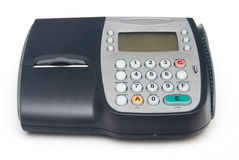 Fixed Credit Card Terminal. Fixed Electronic Credit Card Terminal stock image