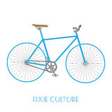 Fixed gear bicycle culture isolated. On white background Royalty Free Stock Photo