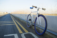 A fixed-gear bicycle Stock Images