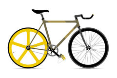 Fixed Gear Bicycle Vector Illustation Stock Image