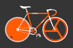 Fixed Gear Bicycle Vector Illustation Stock Photo