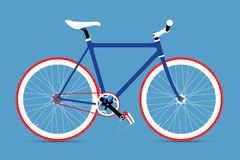 Fixed Gear Bicycle Vector Illustation Stock Photos