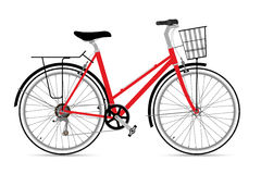 Fixed Gear Bicycle Vector Illustation Royalty Free Stock Photography