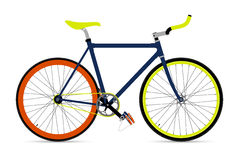 Fixed Gear Bicycle Vector Illustation Stock Photography