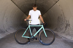 Fixed gear bike. Stock Image