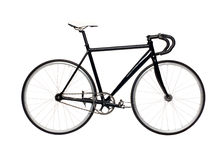 Fixed gear black city bike Stock Images