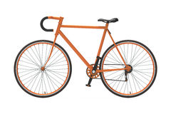 Fixed gear city bicycle Orange Stock Photos