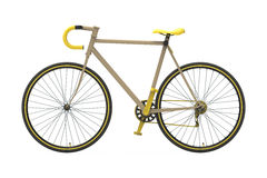 Fixed gear city bicycle Yellow Royalty Free Stock Photo