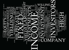 Fixed Income Investment Text Background  Word Cloud Concept Royalty Free Stock Image