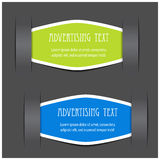 Fixed labels for advertising text Royalty Free Stock Photos