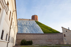 Fixed landslide of Gediminas hill. In Vilnius, Lithuania royalty free stock photo