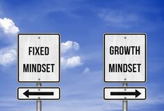 Free Fixed Mindset Versus Growth Mindset Stock Image - 194263761