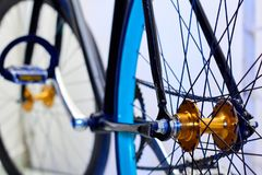 Fixed pinion bicycle Royalty Free Stock Photo