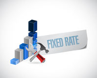 fixed rate business graph illustration Stock Image