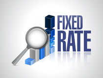 Fixed rate business graph illustration Stock Photo