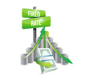 Fixed rate business graphs illustration Stock Photo