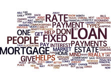 Fixed Rate Mortgage Vs Adjustable Rate Mortgage Text Background  Word Cloud Concept