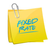 fixed rate post it memo illustration Royalty Free Stock Images